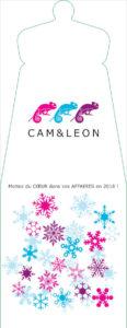 Porte bouteille Cam&Léon avec des flocons colorés