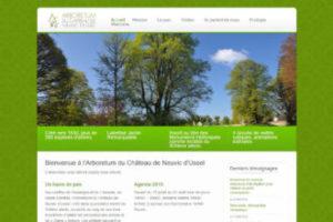 Page d'accueil du site Arboretum de Neuvic d'Ussel