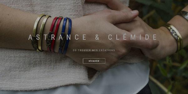 Page d'accueil du site Astrance & Clémide