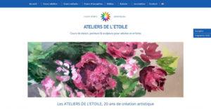 Page d'accueil du site Ateliers de l'Etoile