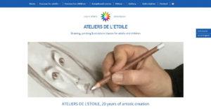Page Home du site Ateliers de l'Etoile en anglais