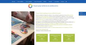 Page intérieure du site Ateliers de l'Etoile