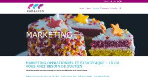 Page Marketing du site Cam&Léon