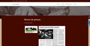 Page intérieure du site de l'ébéniste Louis Sebaux