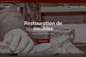 Page d'accueil du site de l'ébéniste Louis Sebaux