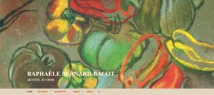 Page d'accueil site Raphaèle Bernard-Bacot en anglais