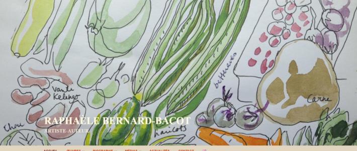 Page d'accueil site Raphaèle Bernard-Bacot en français