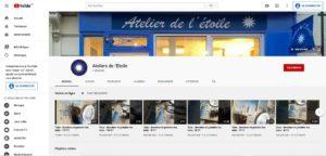 Accueil de la chaîne YouTube des Ateliers de l'Etoile