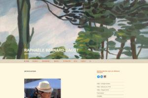 Page d'accueil du site de Raphaèle Bernard-Bacot en français